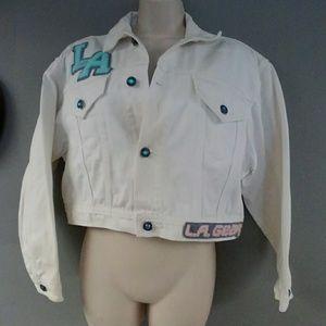 Vintage 80s LA Gear White Jean Jacket